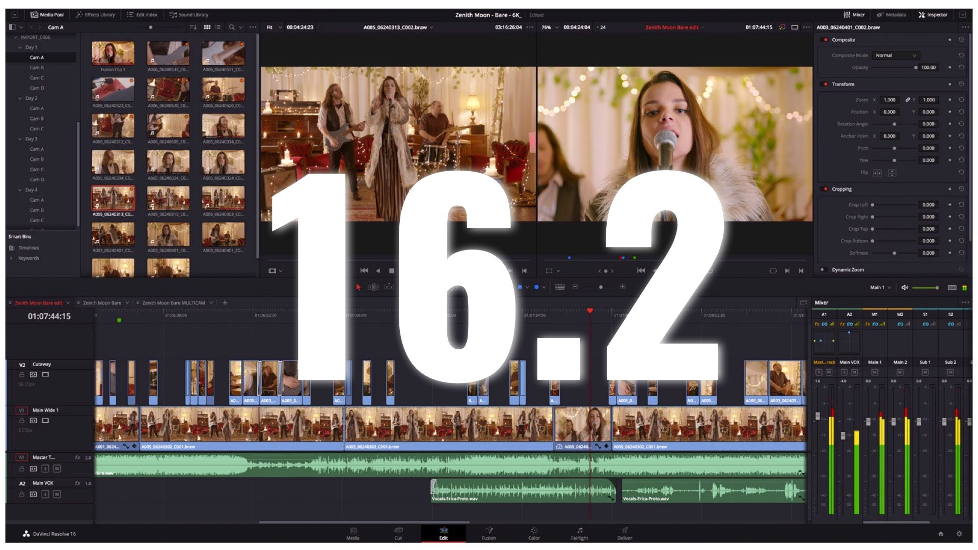 Blackmagic News Davinci Resolve 16 2 Announced With Boosted Audio Capabilities Y M Cinema News Insights On Digital Cinema