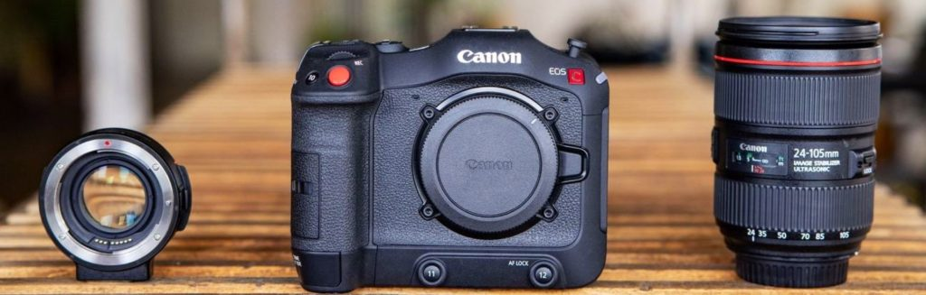 Canon Mount Adapter EF-EOS R 0.71x and the C70