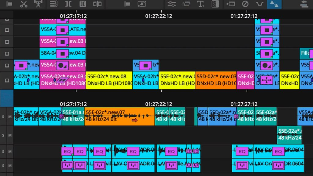 Moving clips without overwriting on Avid Media Composer 2021.3. Picture: Avid