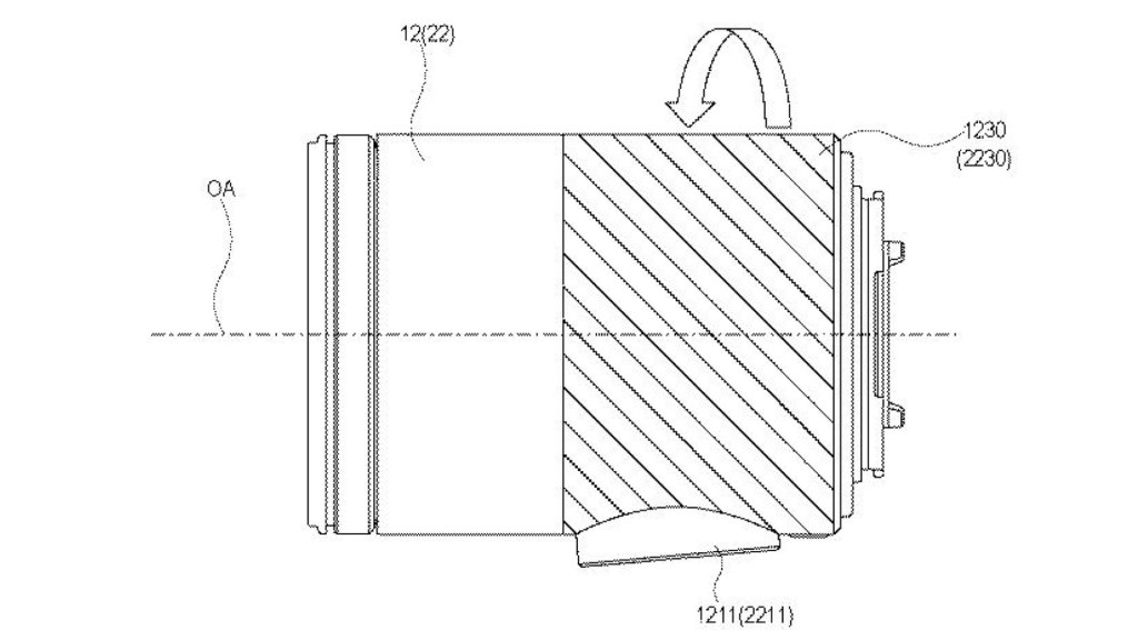 Canon patent: Lens apparatus: Zoom and focus by touch