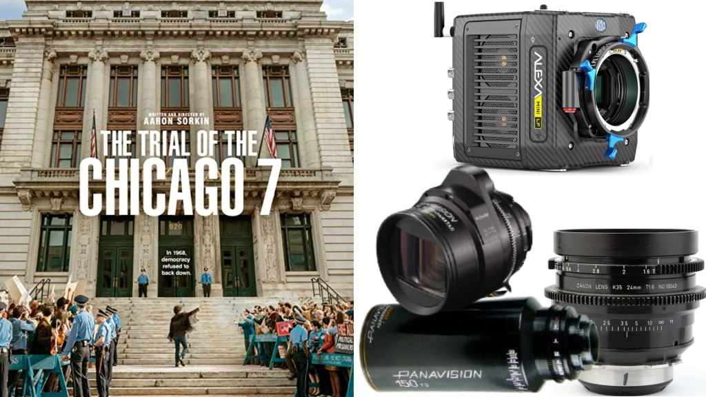"""""""The Trial of the Chicago 7"""" (Netflix): DP: Phedon Papamichael, ASC, GSC. Cameras: ARRI ALEXA Mini LF. Lenses: Panavision Anamorphic C and T-Series, Canon K 35"""