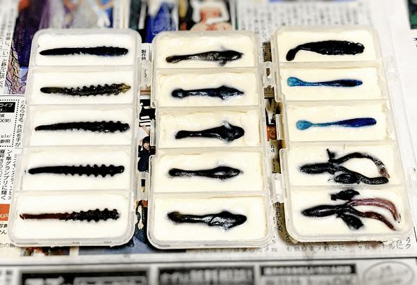 【ハンドメイド】自作ワーム造り:新しいメス型制作