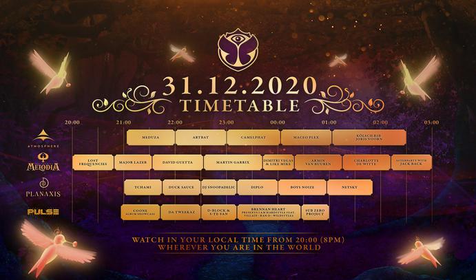 Tomorrowland New Year's Eve Digital Festival 31.12.2020