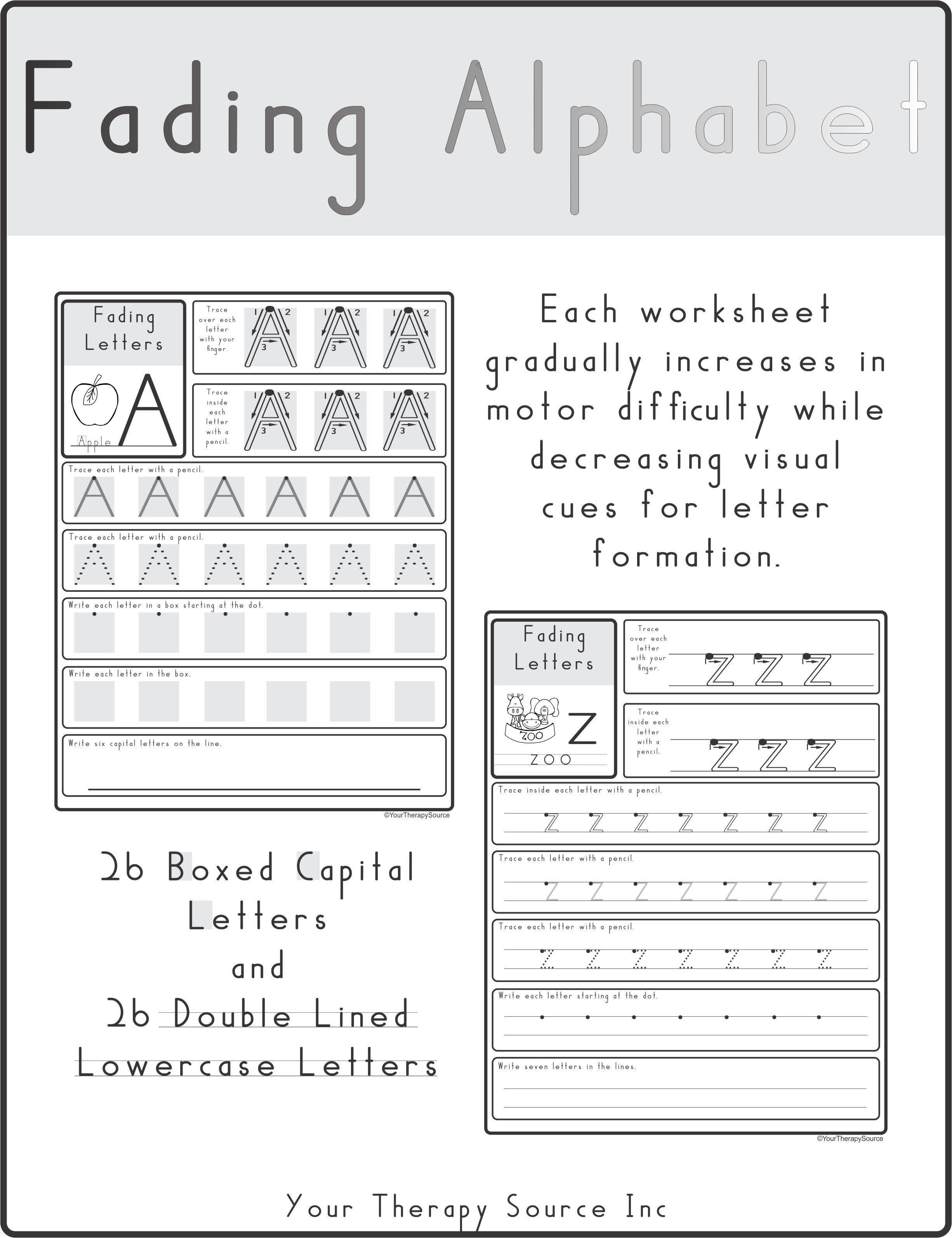Alphabet Letter Formation Worksheets Free Letter Worksheets