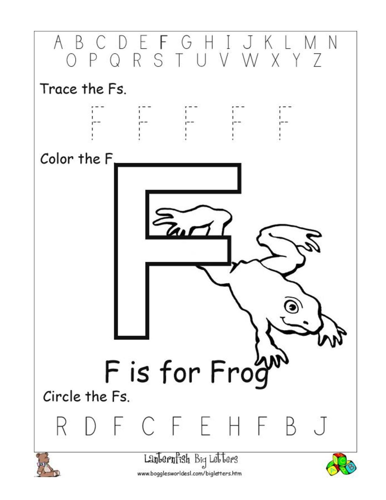 Free Printable Worksheets For Letter Recognition Letter