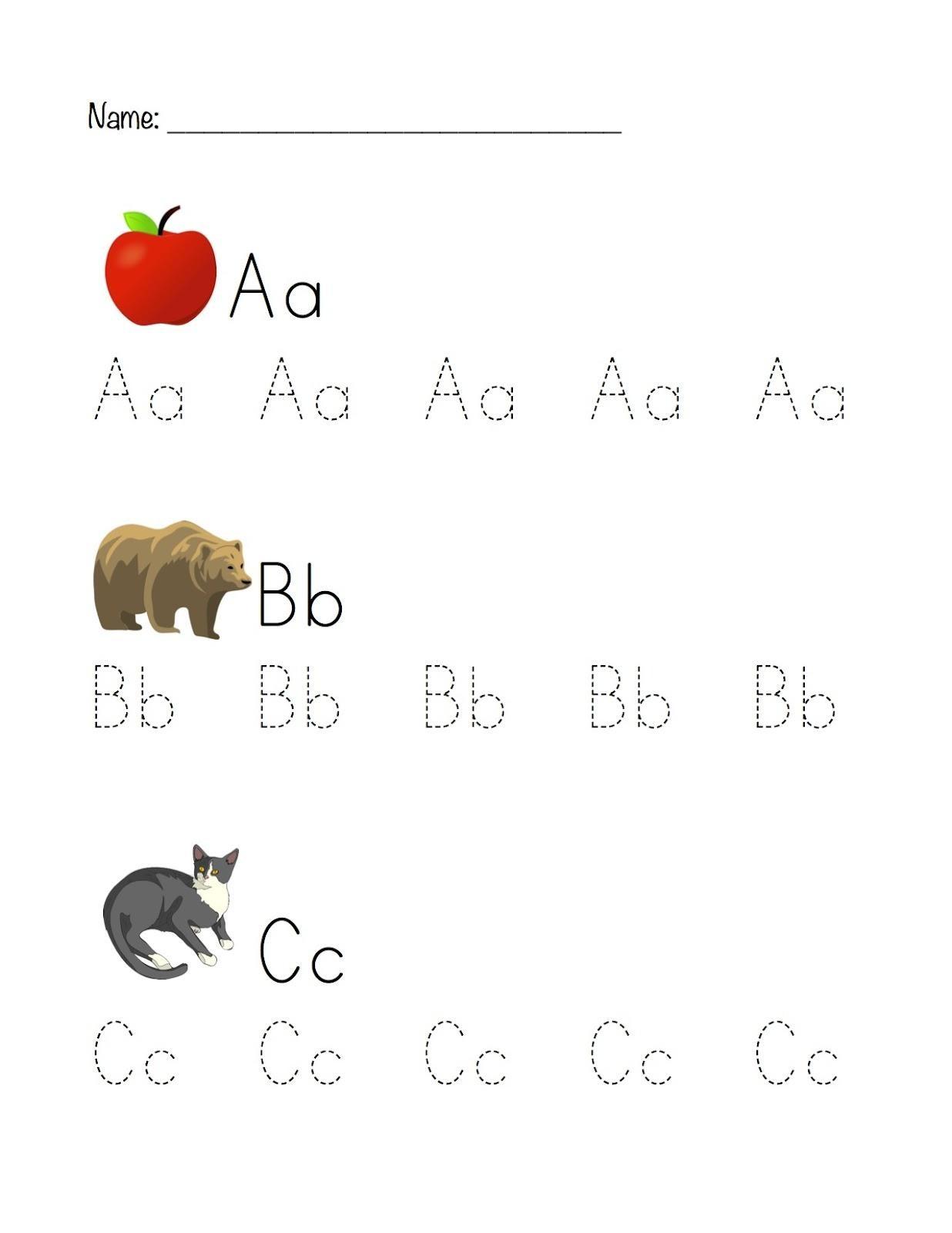 Abc Tracing Worksheets For Kindergarten 5 Letter Worksheets