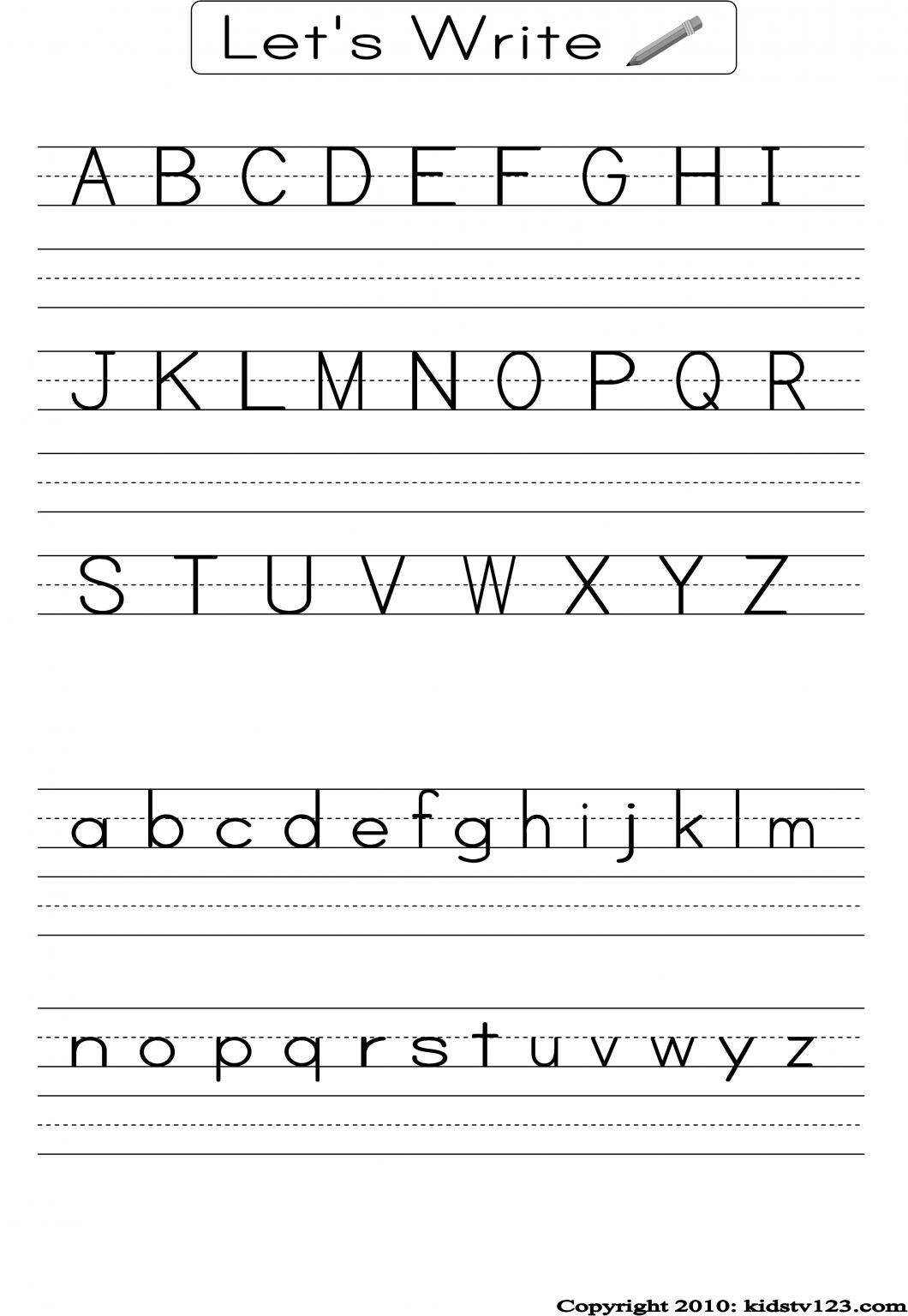 Free Letter Worksheets For Pre K Letter Worksheets