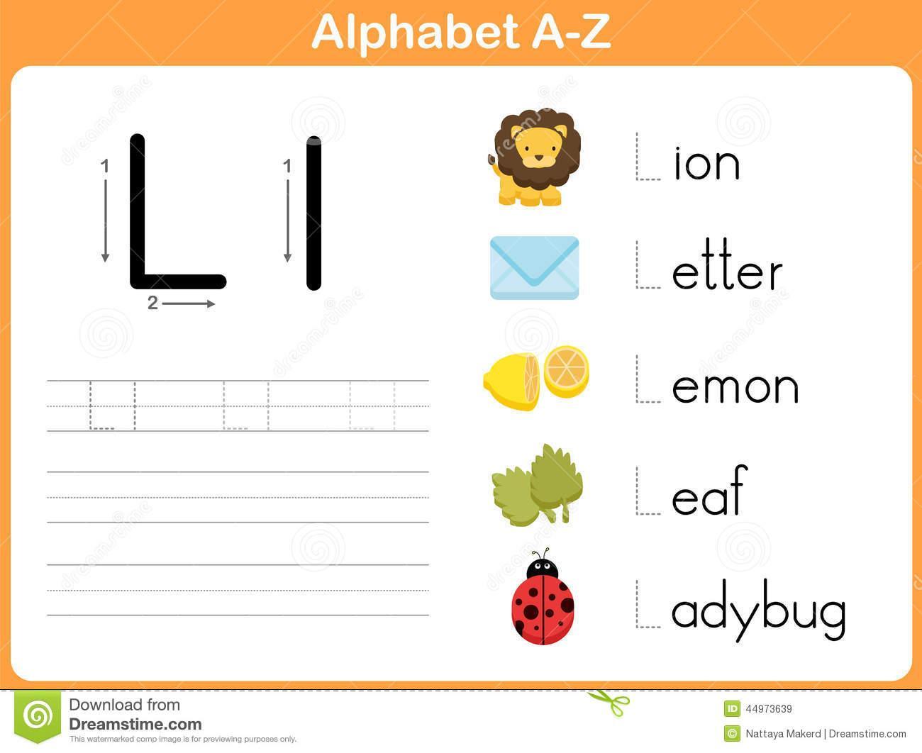 A To Z Alphabet Tracing Worksheets Letter Worksheets