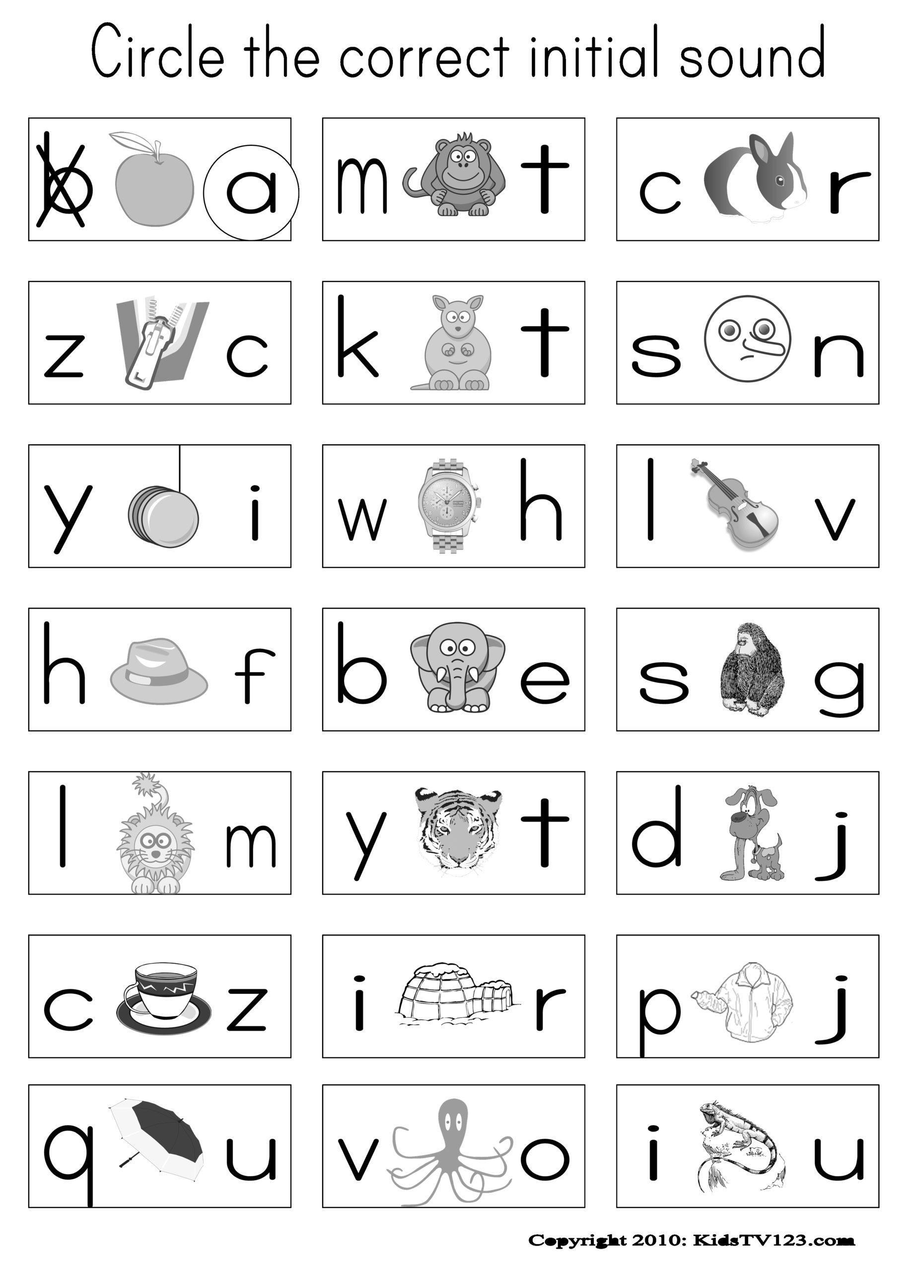 Free Printable Beginning Sounds Worksheets For Preschoolers – Letter  Worksheets
