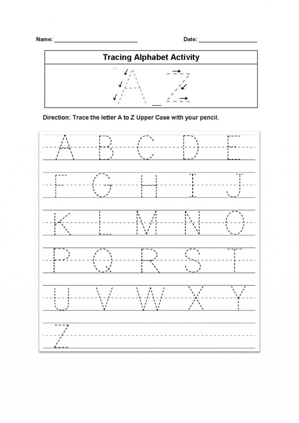 Free Printable Missing Alphabet Letter Worksheets Letter