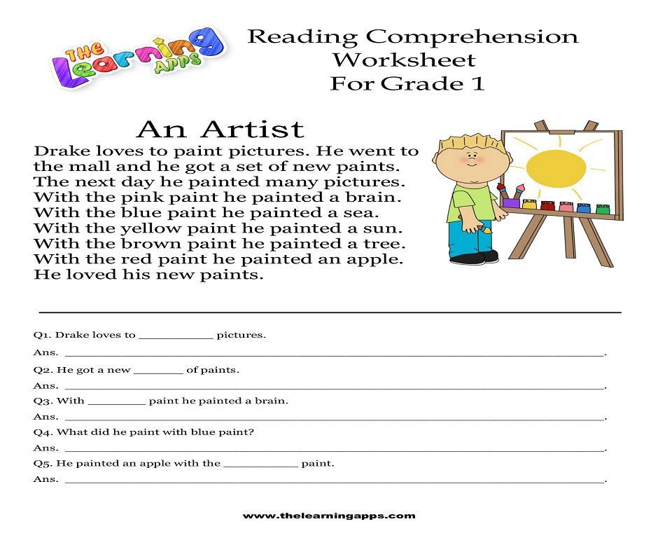 Free Printable Reading Comprehension Worksheets Grade 1 – Letter Worksheets
