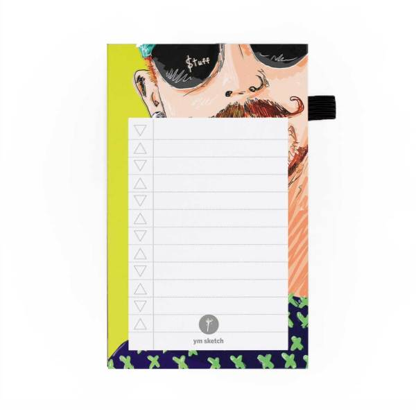 mini magnetic notepad to do list tear paper that says stuff with awesome illustration of tom