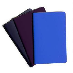 ym sketch notebook journal pocket set of three blue color navy purple