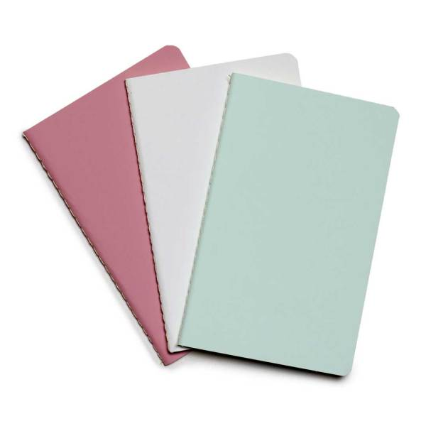 ym sketch notebook journal pocket set of three light color pink white