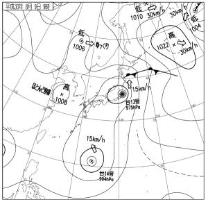 2018年8月9日天気図
