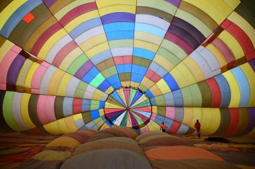熱気球の内側、ハートビーズポートにて