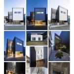 高台に建つ開放的な家