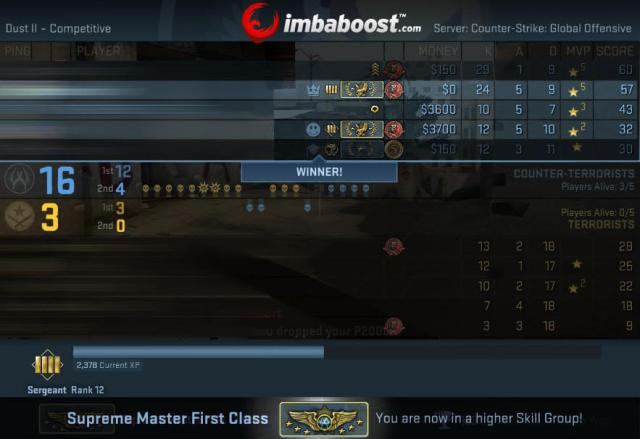 counter strike global offensive rank boosting