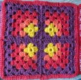 4 mitered granny squares