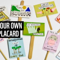 Make your own plate placard | Take deforestation #OffOurPlates | WWF