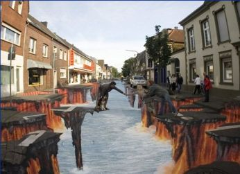 3d - pinturas nas ruas