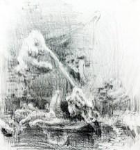"""SUPPRESSED DESIRE (2012) MEDIA: Graphite & Pencil on paper. SIZE: 12"""" x 16"""""""