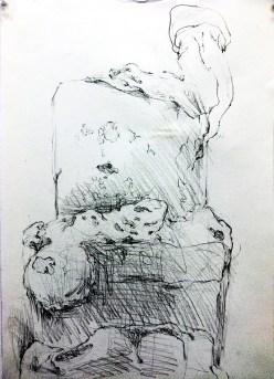 """SYMBIOSIS II (2012) MEDIA: Graphite & Pencil on paper. SIZE: 16"""" x 20"""""""