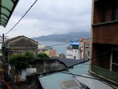 La vue depuis le balcon