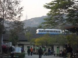 Le metro pour venir et au loin, taipei 101