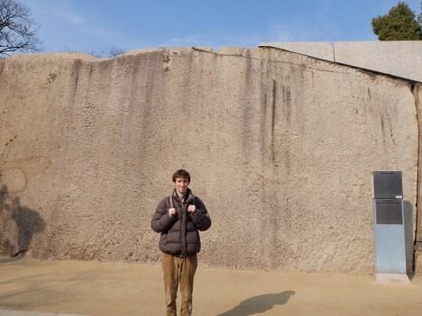L'une des plus grosse pierre du mur d'enceinte