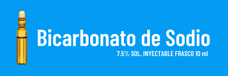 BICARBONATO DE SODIO (Se identifica con el color azul)