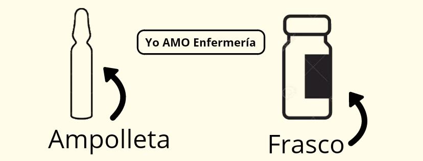 AMPOLLETA Y FRASCO DE INYECCIONES