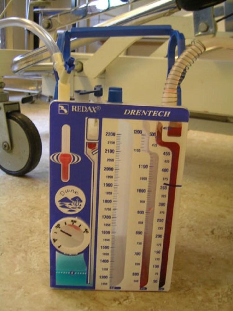 Preparación del sistema de drenaje torácico
