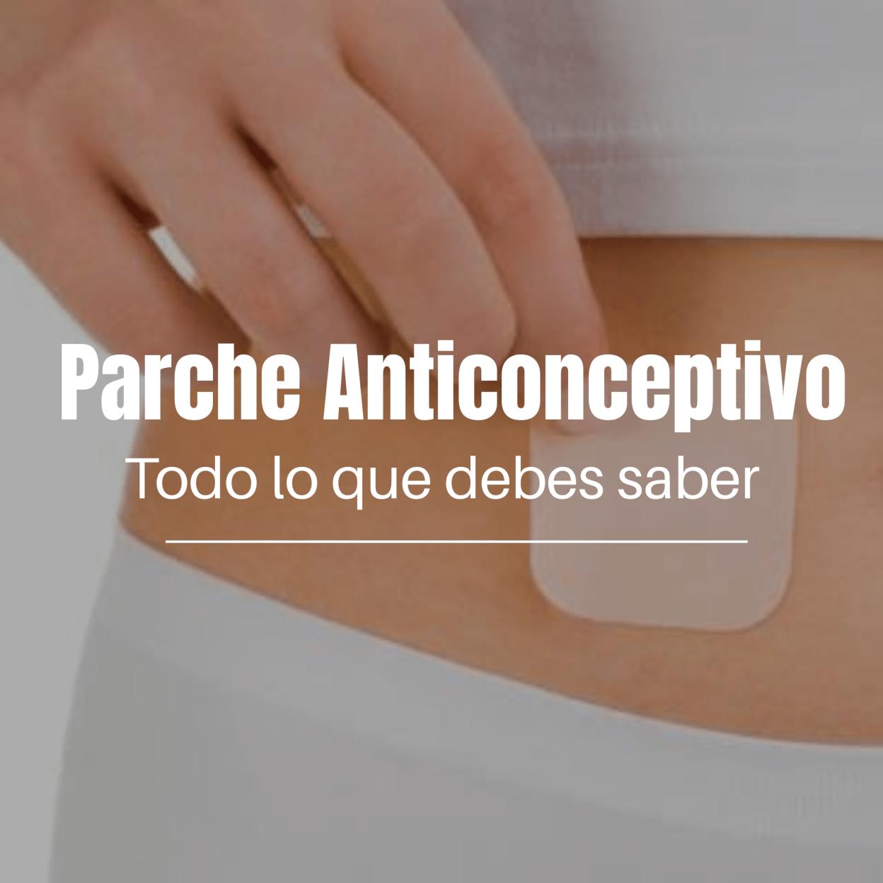 Parche anticonceptivo es un plástico delgado, cuadrado el cual se pega a la piel y libera hormonas similares a las que produce la mujer  inhibiendo la ovulación