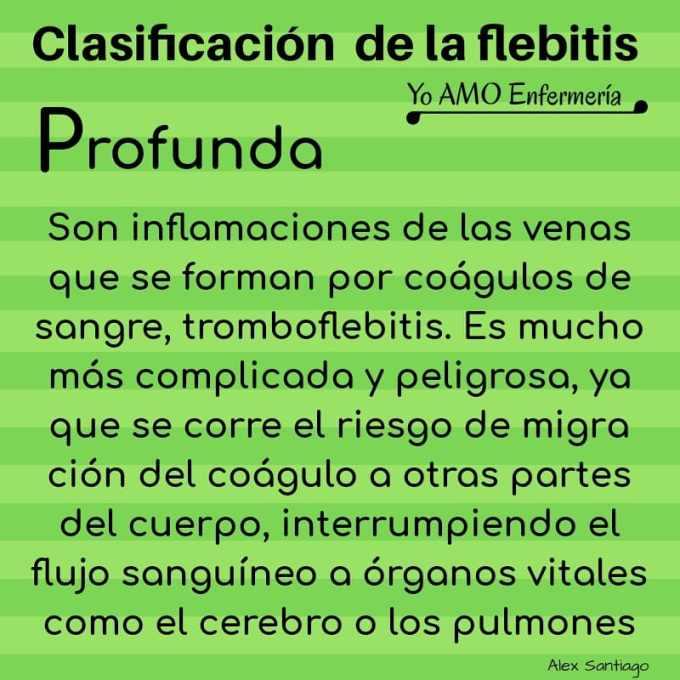 causas profundas de la flebitis