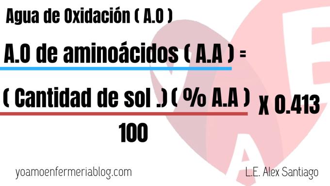 Agua de oxidación de aminoácidos