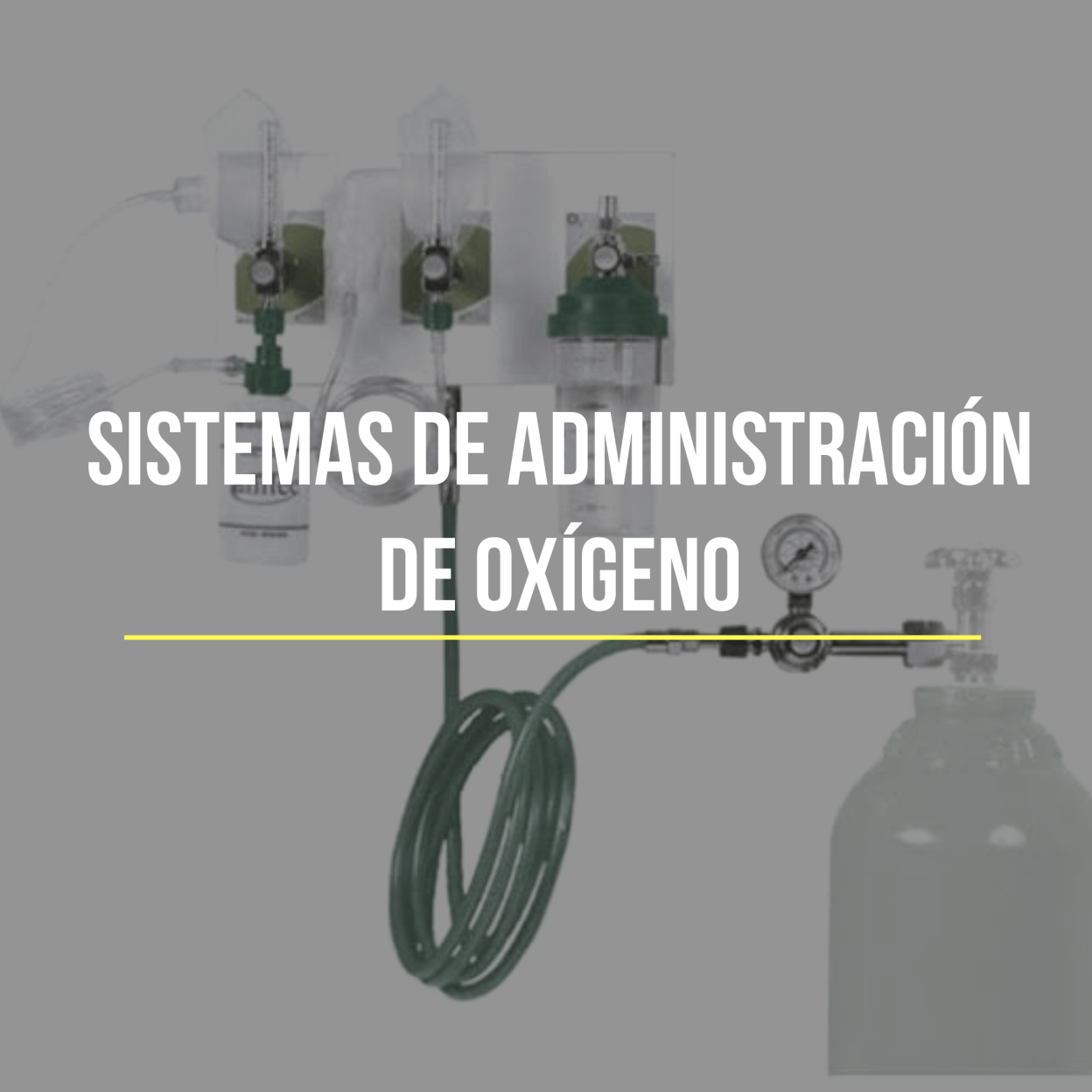 En la Oxigenoterapia se utilizan distintos sistemas de administración de oxígeno que son el conjunto de dispositivos o herramientas con los que se consigue introducir el gas en la vía aérea.