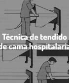 Tendido de cama hospitalaria