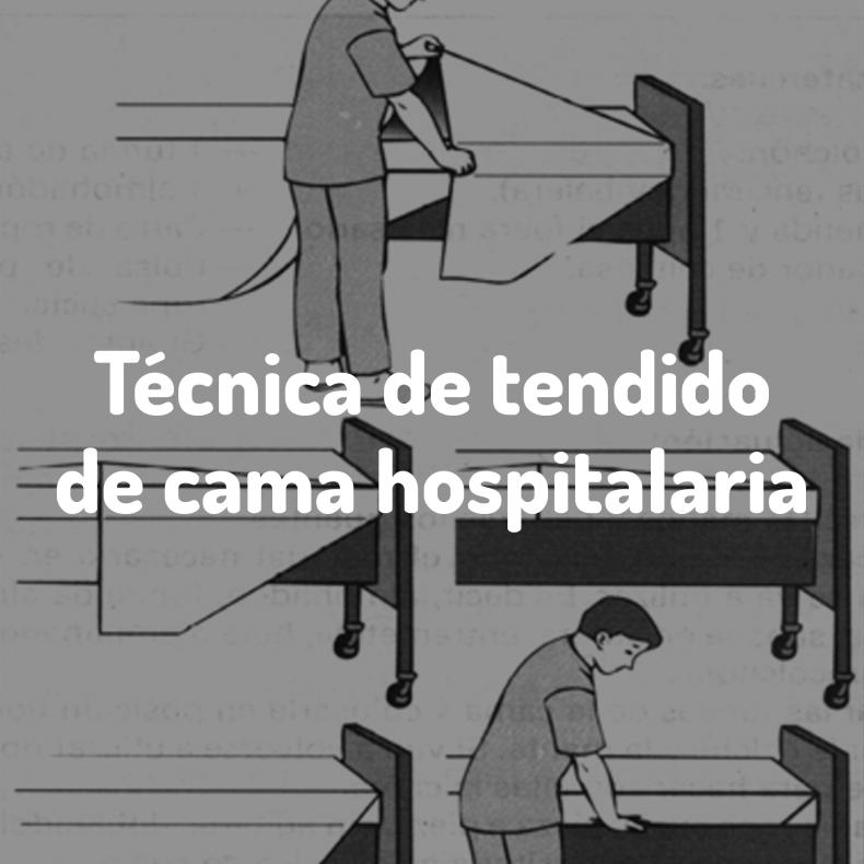 Tendido de camas hospitalarias