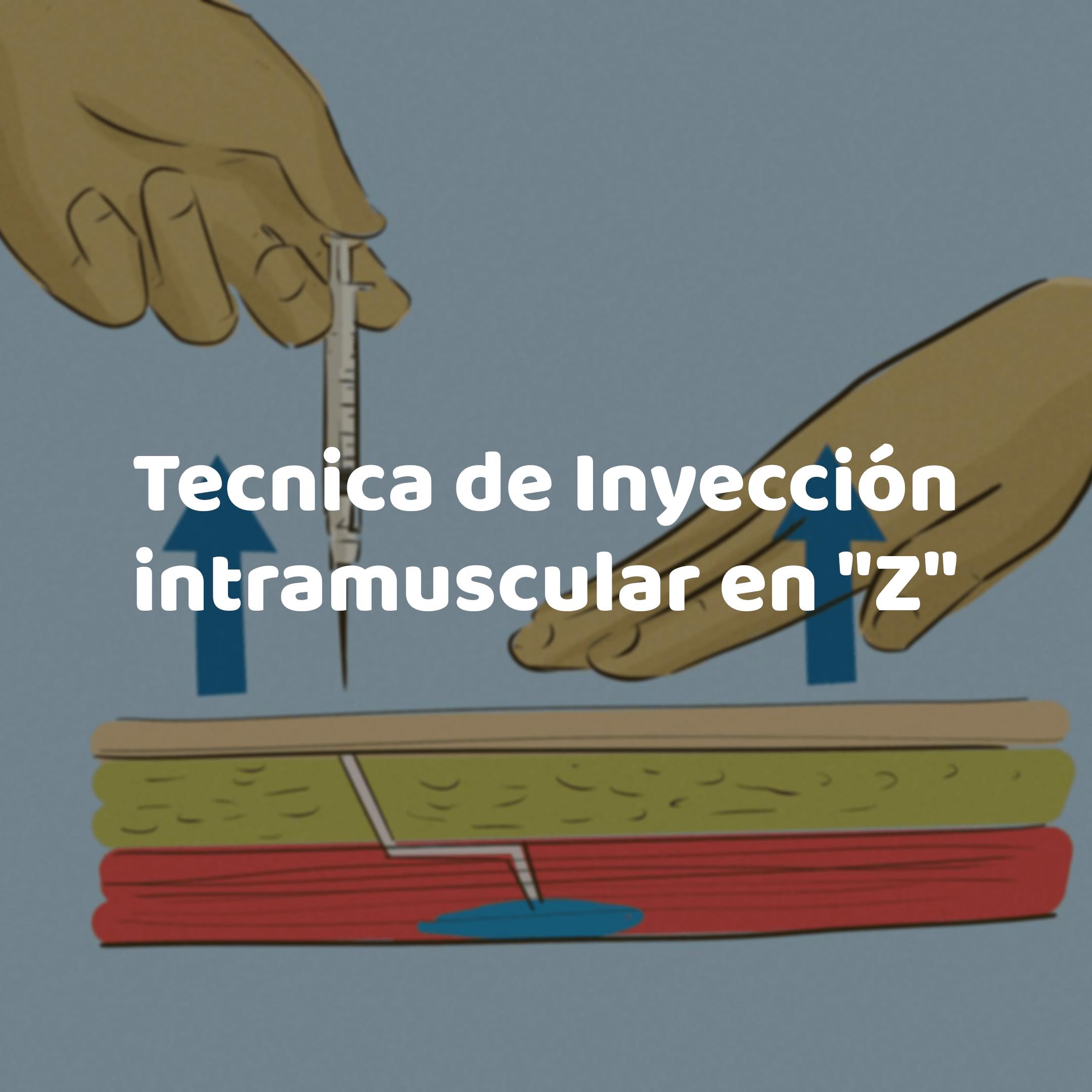 Técnica en Z para inyecciones intramusculares