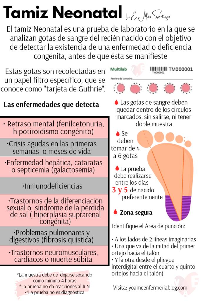Tamiz neonatal prueba del talon