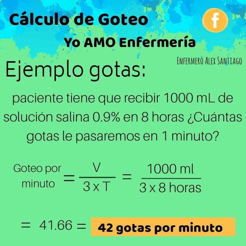 ejercicio calculo de goteo
