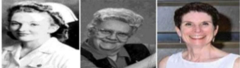 Helen C. Erickson, Evelyn M. Tomlin y Mary Ann P. Swain
