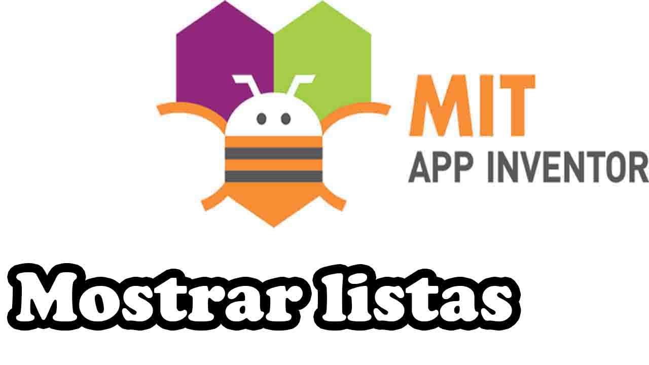 mostrar listas en app inventor