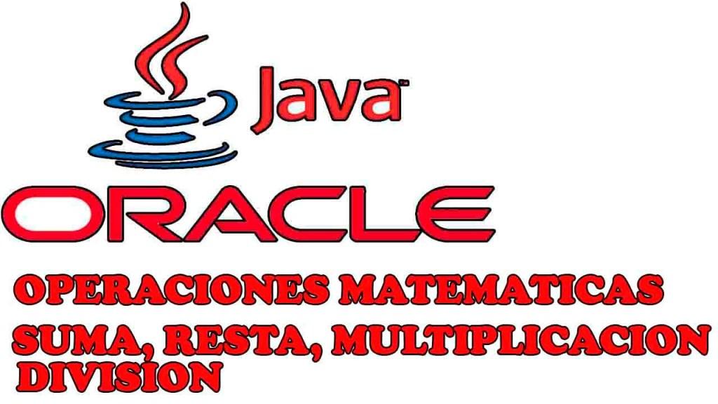 operaciones matematicas basicas en java