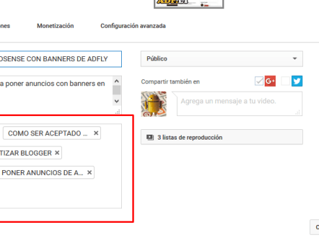 GENERADOR DE TAGS O ETIQUETAS PARA VIDEOS DE YOUTUBE