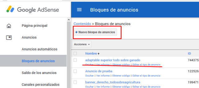 google adsense dentro de una entrada de blogger