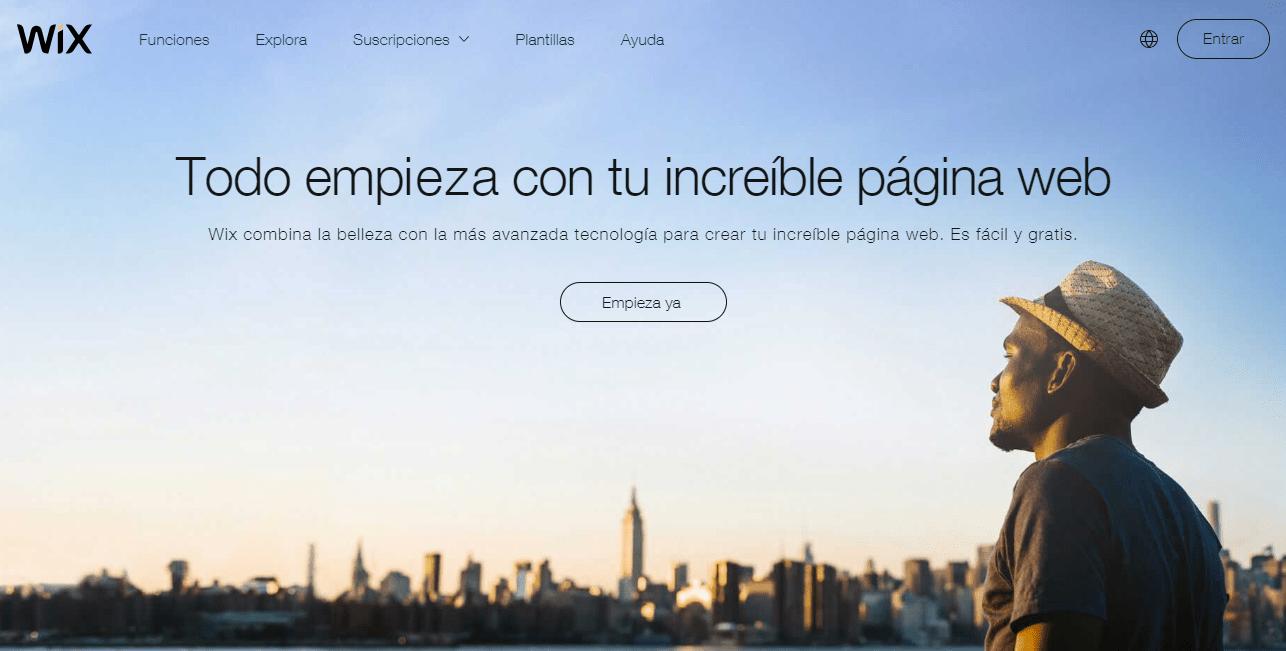 crear una pagina web en wix