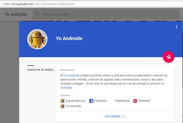 yo androide google+