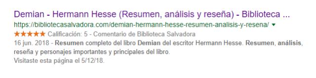 Biblioteca Salvadora Rich Snippets